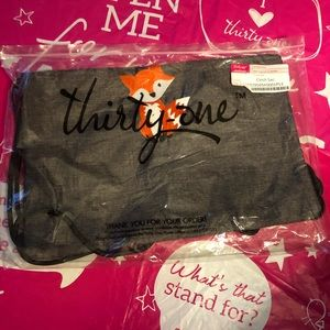 Thirty One Cinch Sac with Fox Embroidery
